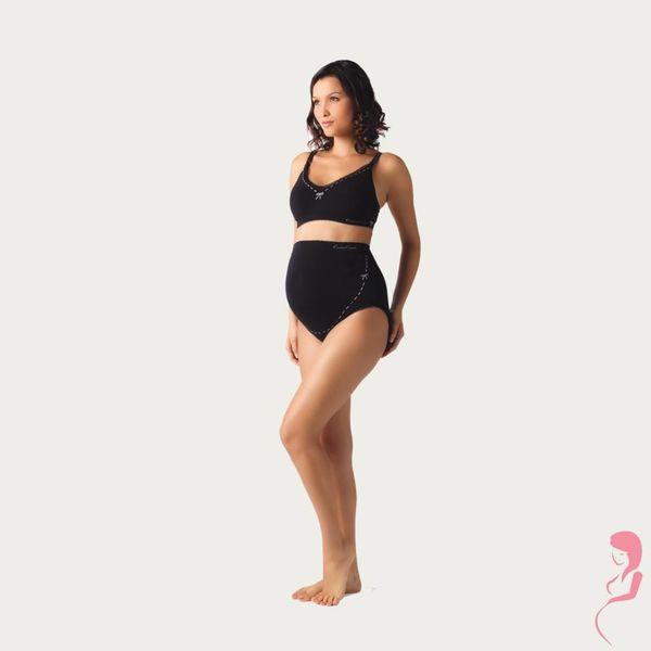 Cache Coeur Zwangerschapsslip Illusion Zwart