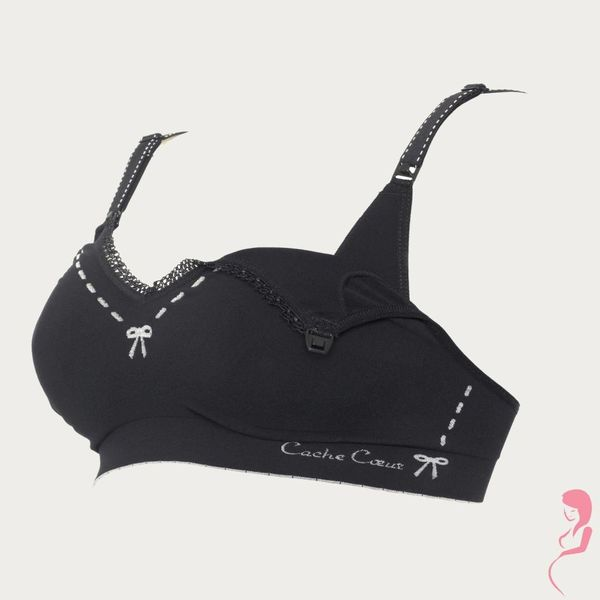 Cache Coeur Positiebeha / Voedingsbeha Illusion Zwart
