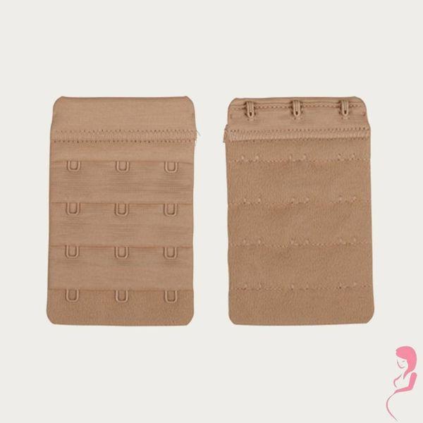 Op en Top Zwanger Beha Verlengstuk / Verlenger 3 Haaks Beige (2 Pack)