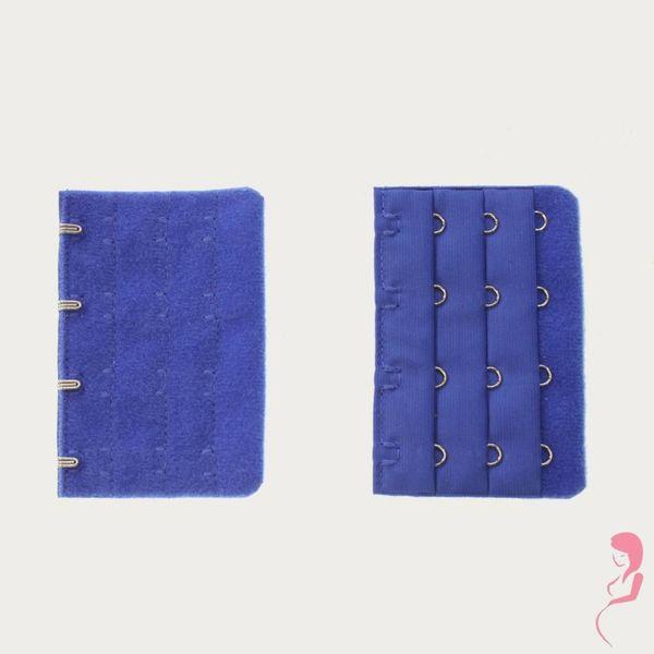 Op en Top Zwanger Beha Verlengstuk / Verlenger 4 Haaks Helder Blauw (per stuk)