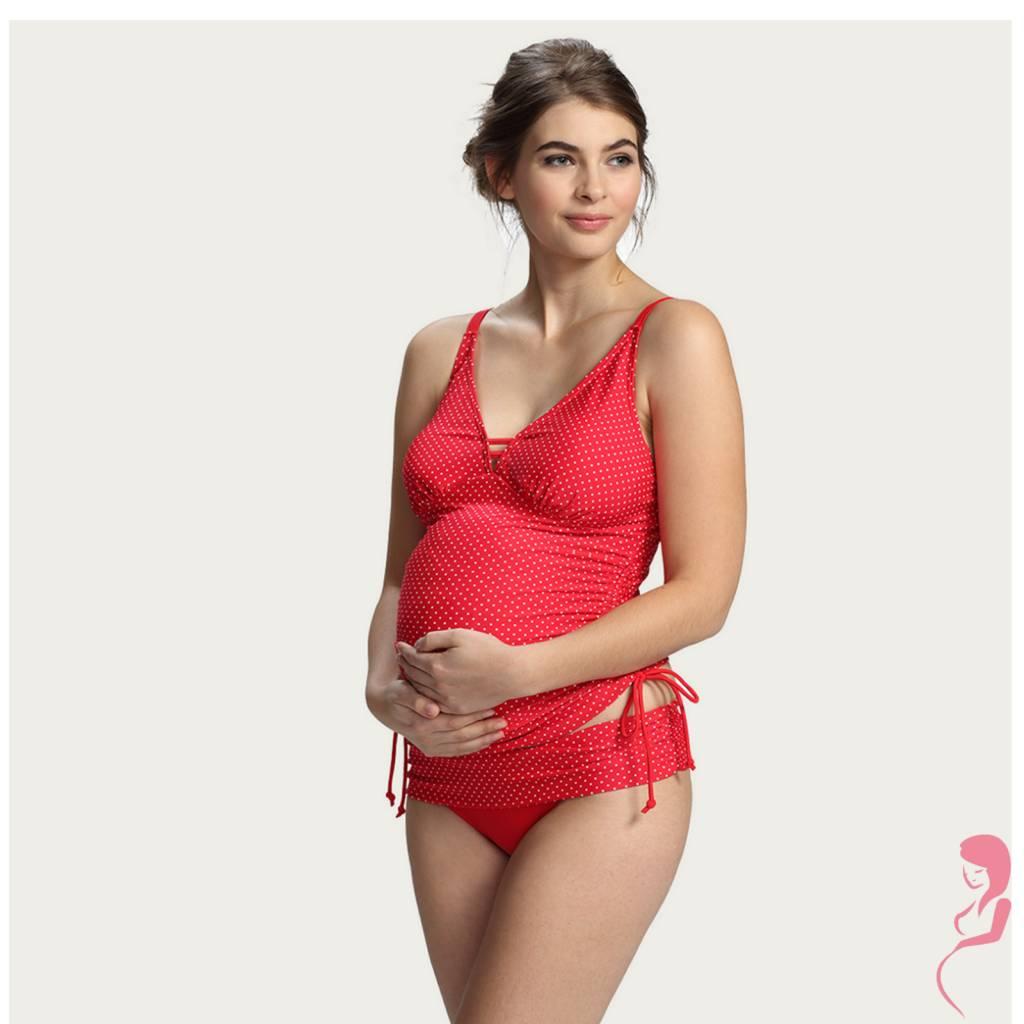 Petit Amour ZwangerschapsTankini Ava Opvallend Rood
