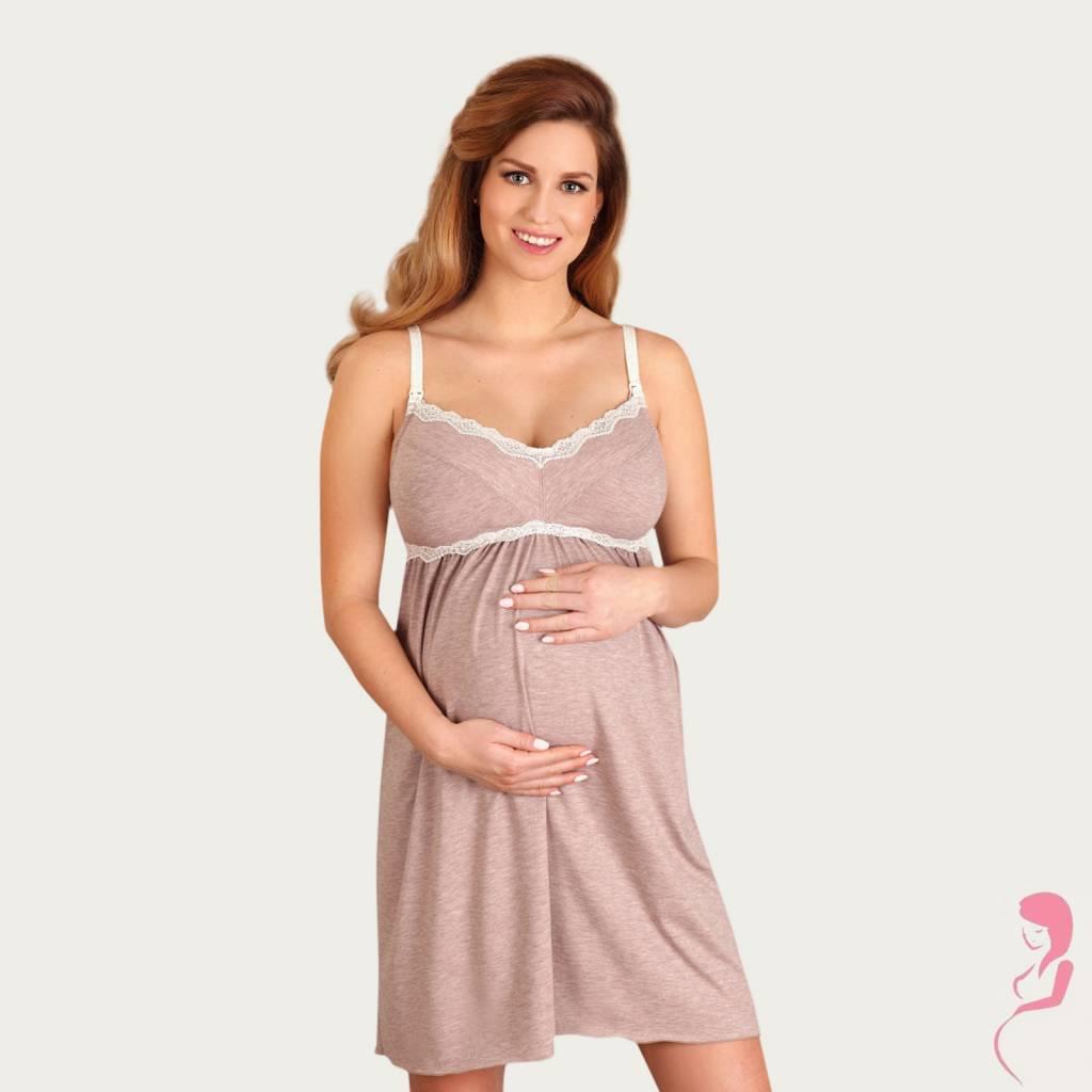 Lupoline Zwangerschapsjurk - Voedingsjurk Grey Style