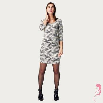 Noppies Zwangerschapsjurk Zwart / Wit Marte