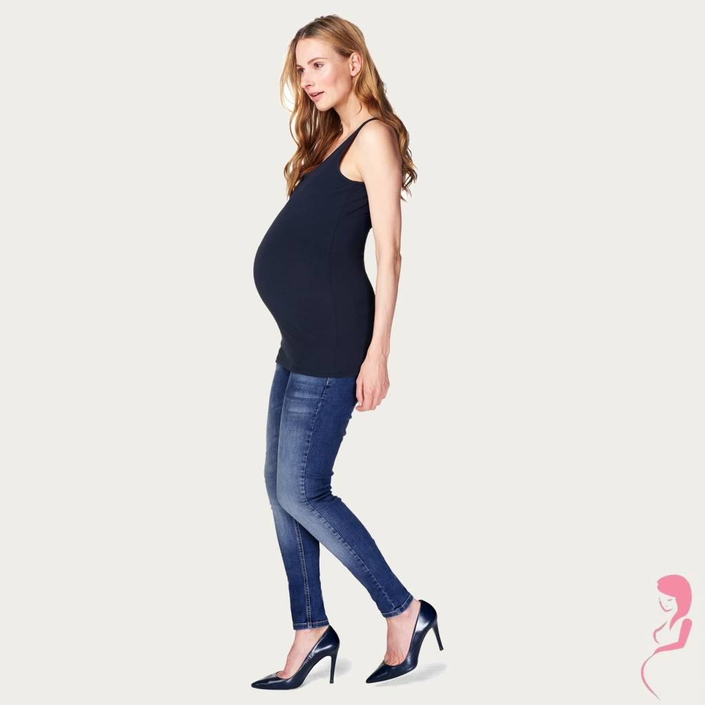 Op en Top Zwanger, Noppies Zwangerschapstop Positietop Amsterdam Naadloos Donker Blauw