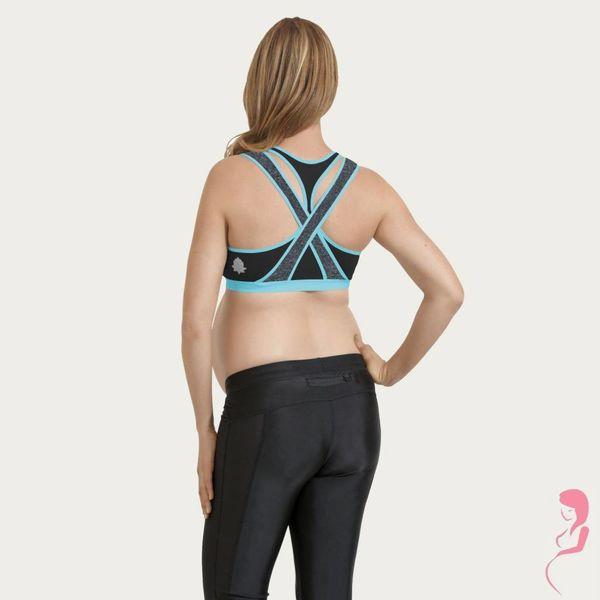 Cake Lingerie Yoga / Sport Borstvoedingsbeha / Zwangerschapsbeha Lotus Zwart / Blauw