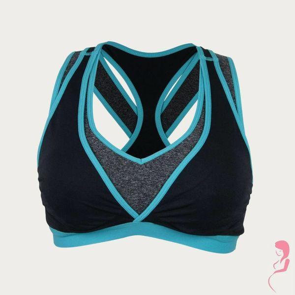 Cake Lingerie Yoga / Sport Beha Lotus speciaal voor de borstkolf Zwart / Blauw