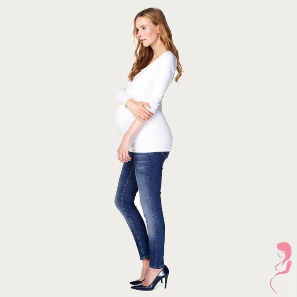 Noppies Zwangerschapsshirt Positieshirt Amsterdam Ronde Hals Lange Mouw Wit