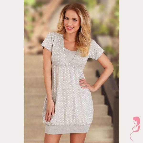 Lupoline Zwangerschapsnachtjurk / Voedingsnachtjurk Grey Style
