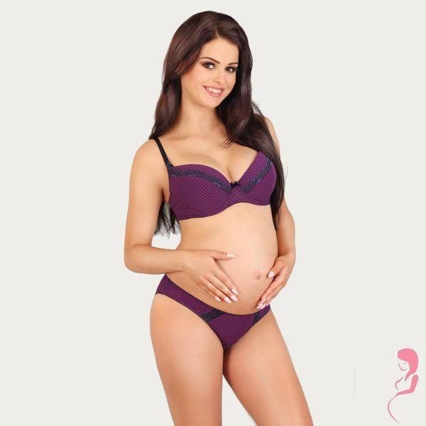 Lupoline Zwangerschapsbeha / Voedingsbeha Purple Polka Dots