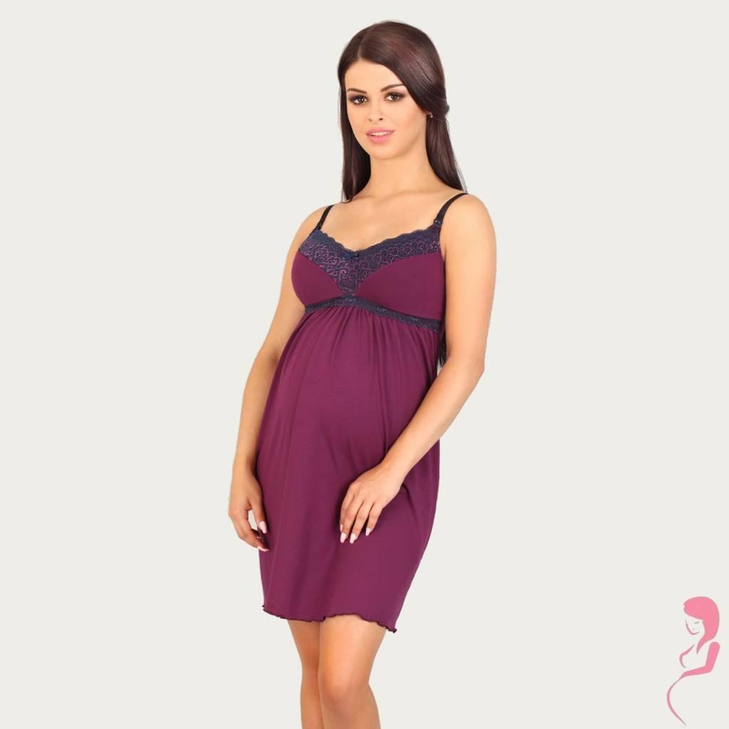 Lupoline Zwangerschapsjurk - Voedingsjurk Dark Purple