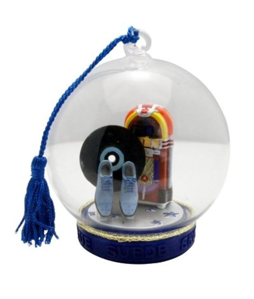 Ornament T6 - Globe - Blue Suede Shoes