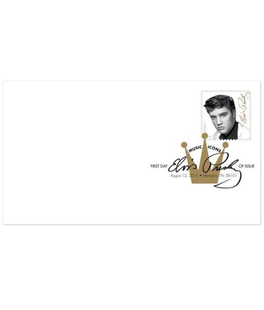 Elvis Forever First-Day-of-Issue Envelope (digital color postmark)