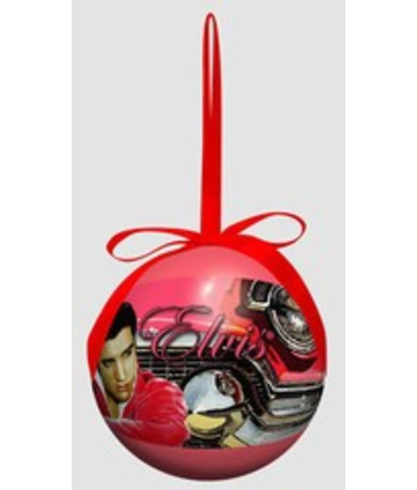 Ornament - Elvis In Pink Car