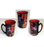 Elvis Mug Name Collage Red