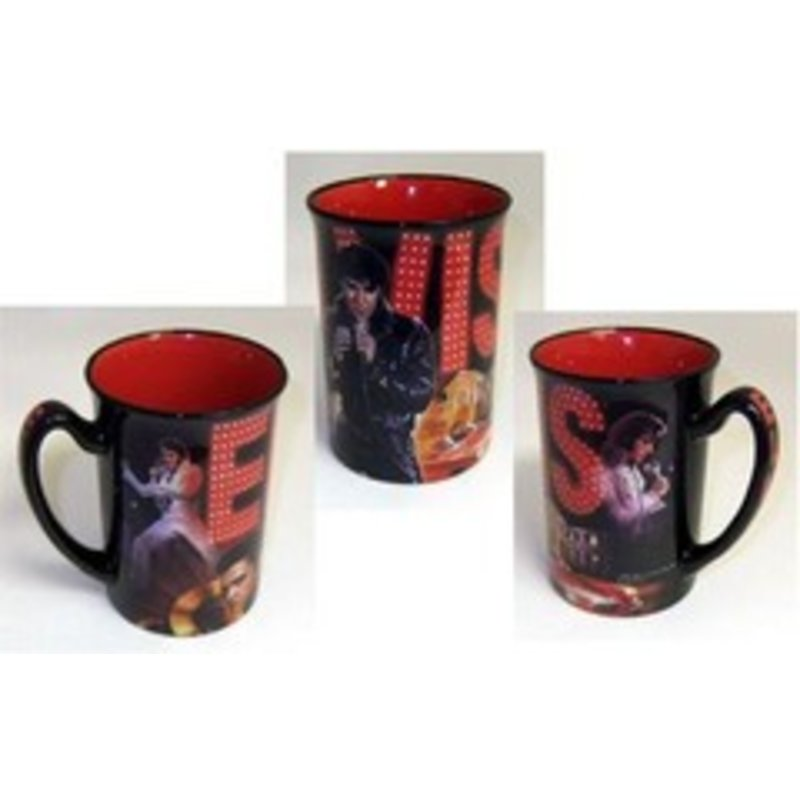 Elvis Mug Name Collage Red