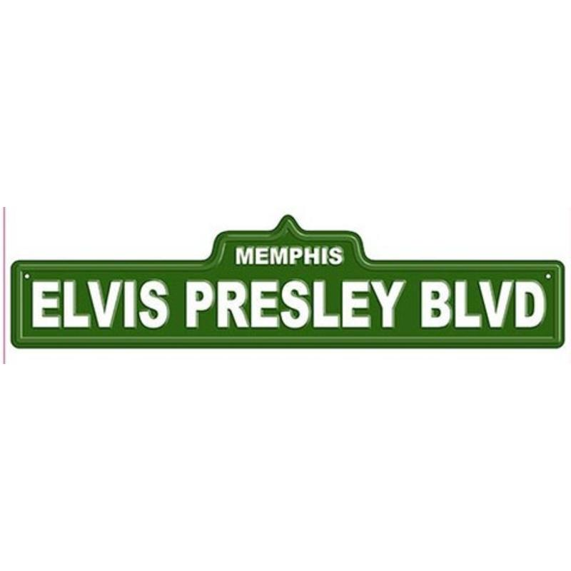 Elvis Presley Blvd Street Sign Elvis