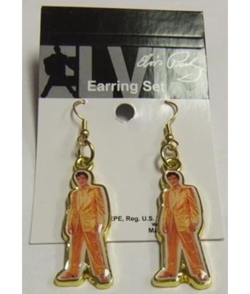 Earrings - Elvis Gold Suit