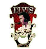Bottle Opener Magnet Elvis The King Red