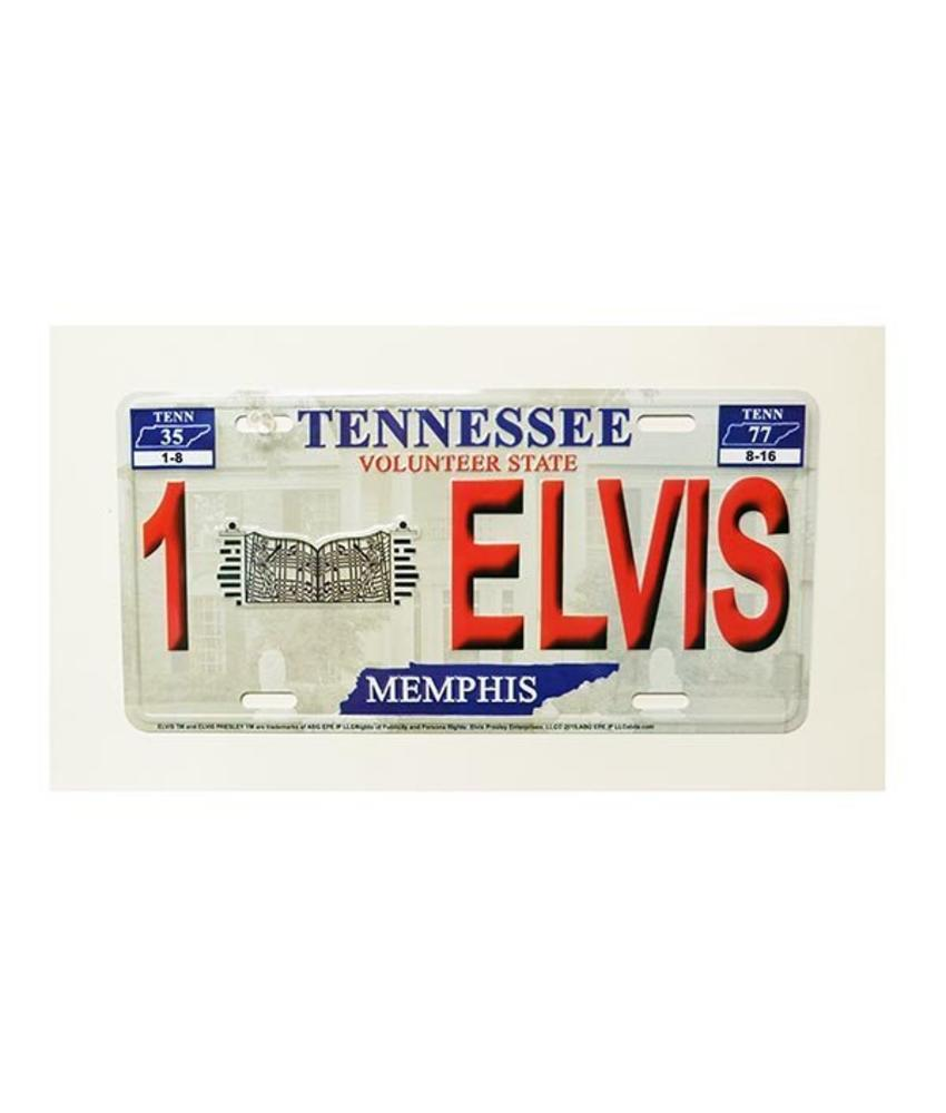 Badge - Red Relief Elvis - Graceland