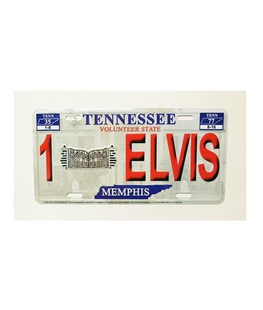 Kenteken - Elvis Rood Relief - Graceland
