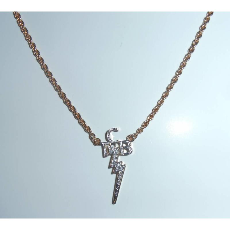 Necklace - TCB - SwarovskiLook - Goldplated (LH)