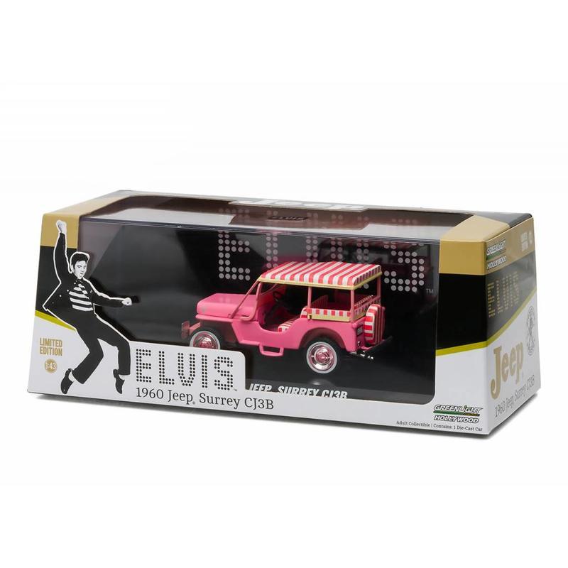 Jeep Blue Hawaii - Schaal 1/43 - Roze - Graceland Opdruk