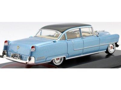 Blue Cadillac Fleetwood 1955 - Schaal 1/43 - Zwart Dak