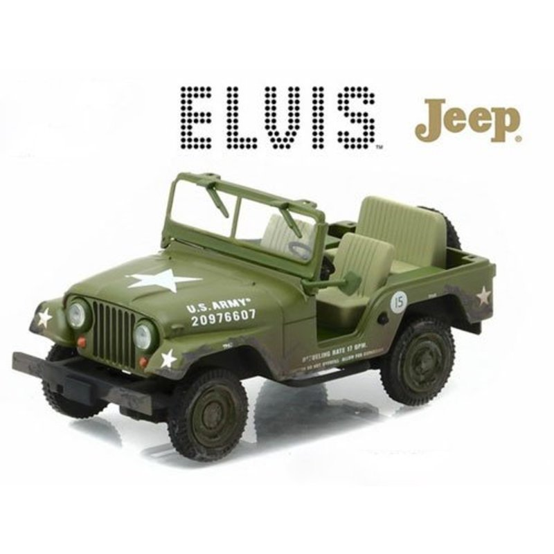 Jeep Elvis Army - Schaal 1/43