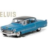 Blue Cadillac Fleetwood Elvis 1955 - Scale 1/64 - Black Roof