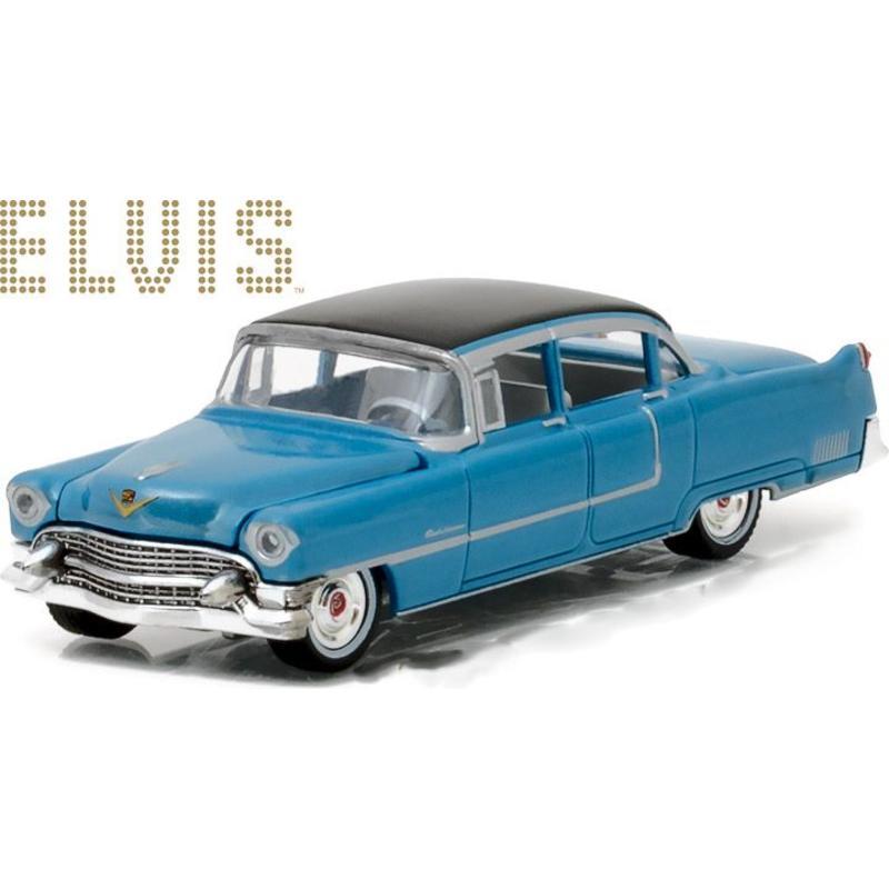 Elvis Cadillac Fleetwood Elvis serie 60 Blue - Schaal 1/64