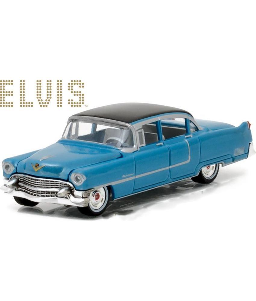 Elvis Cadillac Fleetwood serie 60 Blue - Schaal 1/64
