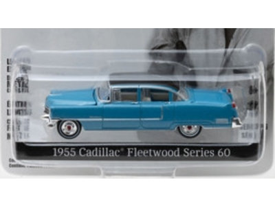 Blue Cadillac Fleetwood Elvis 1955 - Schaal 1/64 - Zwart Dak