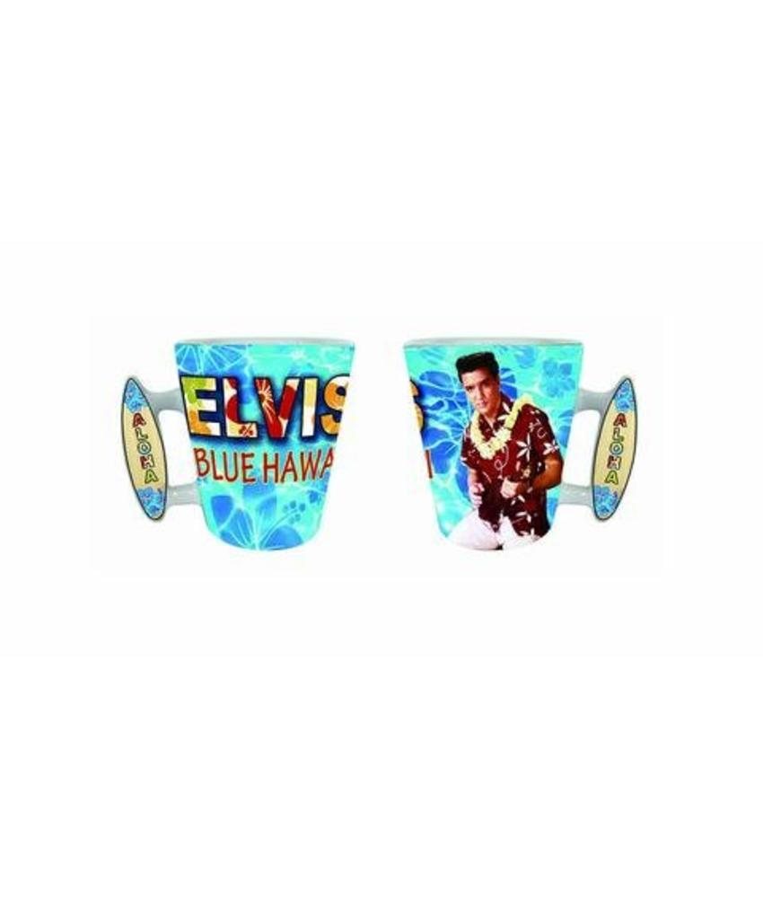 Mug Elvis Blue Hawaii Surf Board Handle