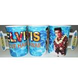 Mug Elvis Blue Hawaii Surf Board Handle - Large