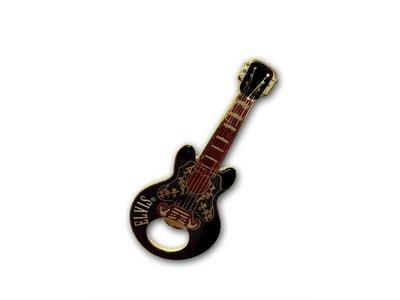 Bottle Opener Magnet Elvis Guitar Black