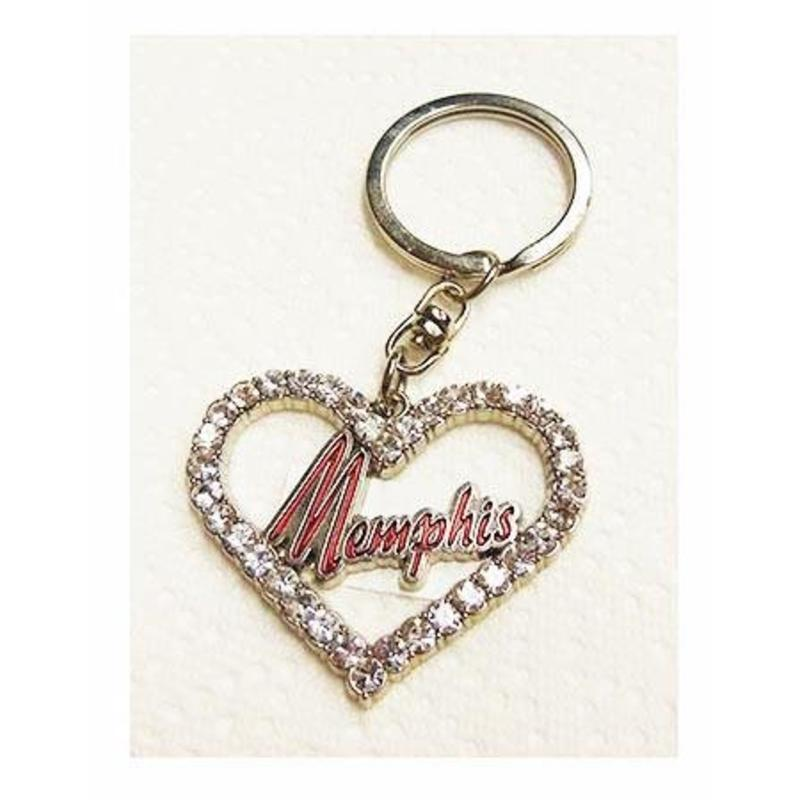 Keychain Set 2 pieces - Elvis' Memphis - Guitar and Heart Shape