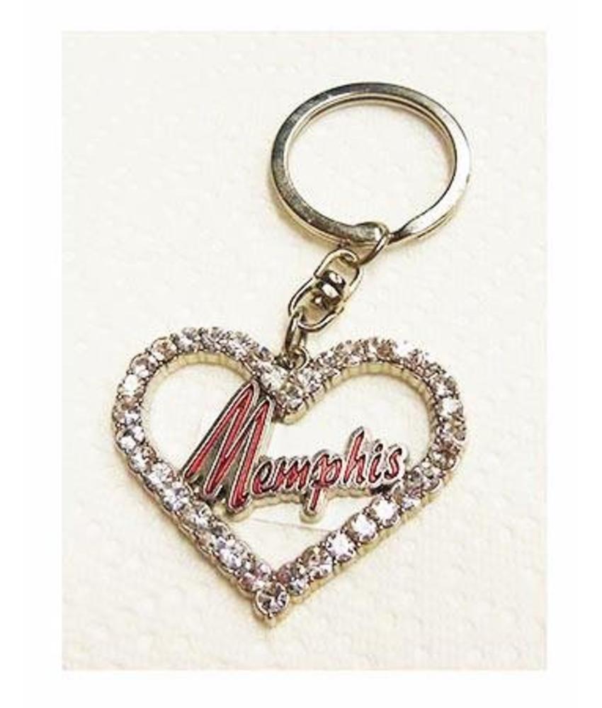 Keychain Set 2 pieces - Elvis' Memphis - Guitar and Heart Shape