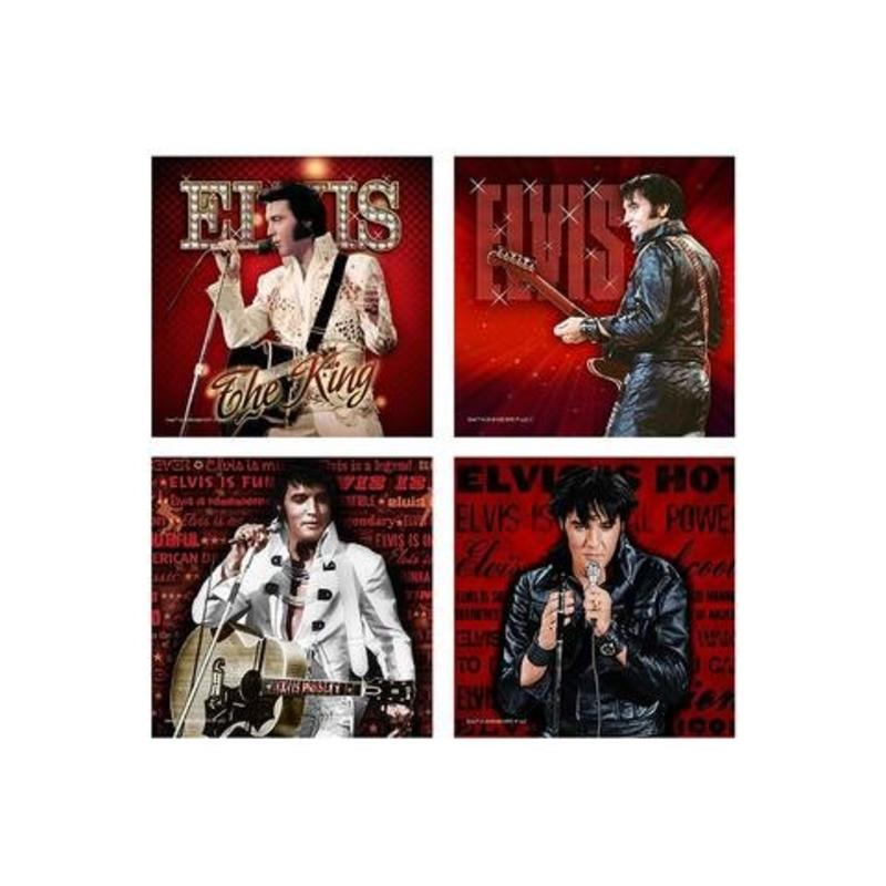 Coasters - Elvis Live - Set of 4