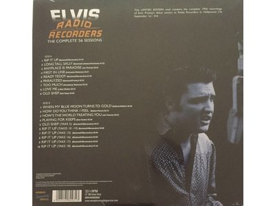 MRS - Radio Recorders – The Complete '56 Sessions Of Elvis On Vinyl