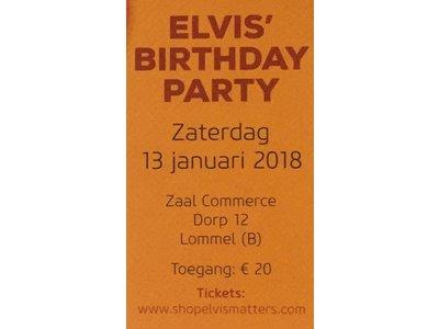 Elvis' BirthdayParty - Zaterdag 13 Januari 2018