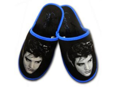 Slippers Elvis Fifties Black Hair