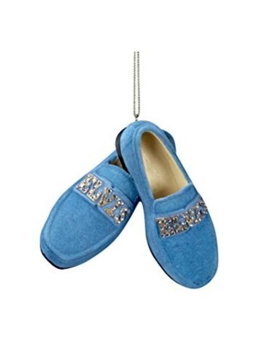 Ornament Elvis Blue Suede Shoes