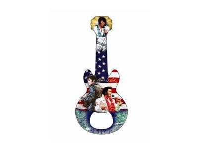 Flessenopener Magneet Elvis Gitaar Amerikaanse Vlag