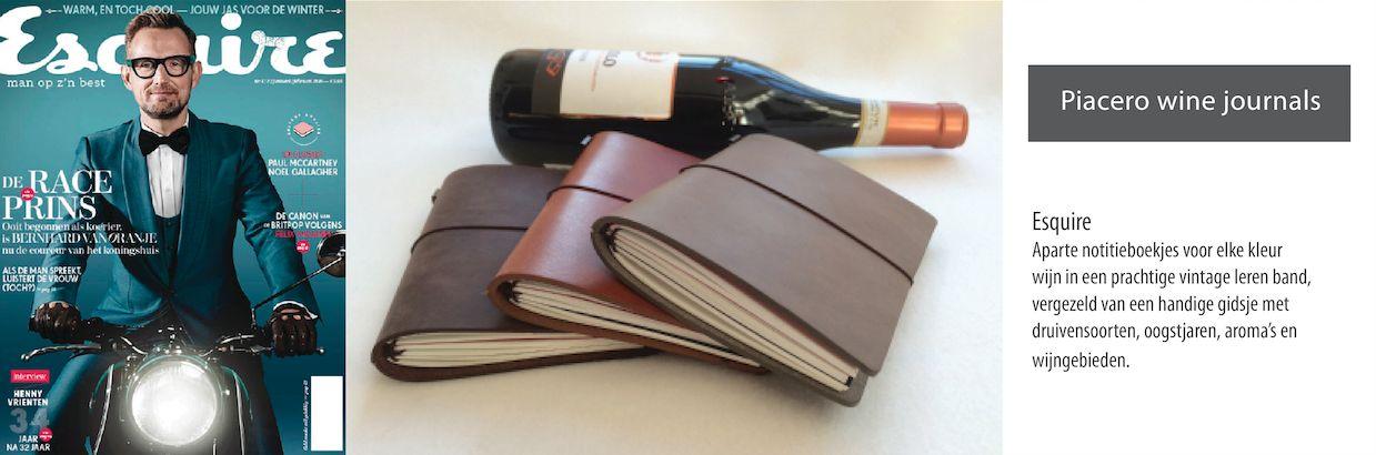 Leren wijn journals