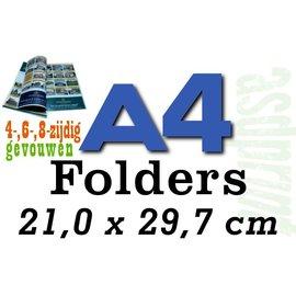 Standaard folders, staand formaat A3 naar A4