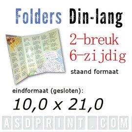 Folders DIN-LANG 6 zijdig
