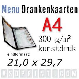 A4 - Menu - Drankenkaarten