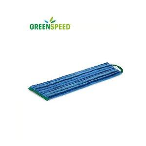 Greenspeed Scrubmop Velcro Blauw, vlakmop extra schrobeffect