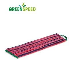 Greenspeed Scrubmop Velcro Rood, vlakmop extra schrobeffect