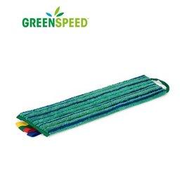 Greenspeed Scrubmop Velcro Groen, vlakmop extra schrobeffect
